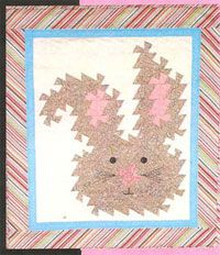"Bunny Twist pattern by Handcrafts by Jennifer at KayeWood.com is made using the Primitive Pinwheels Tool and the finished size is 25 1/4"" x 28 1/2"". Instructions are also included for a larger version using Lil' Twister. http://www.kayewood.com/item/Bunny_Twist_Quilt_Pattern/3059 $9.00"