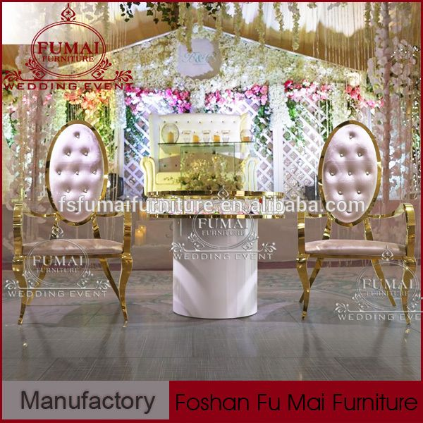 Modern Banquet Furniture Fabric Leather Tufted Bride And Groom Chair