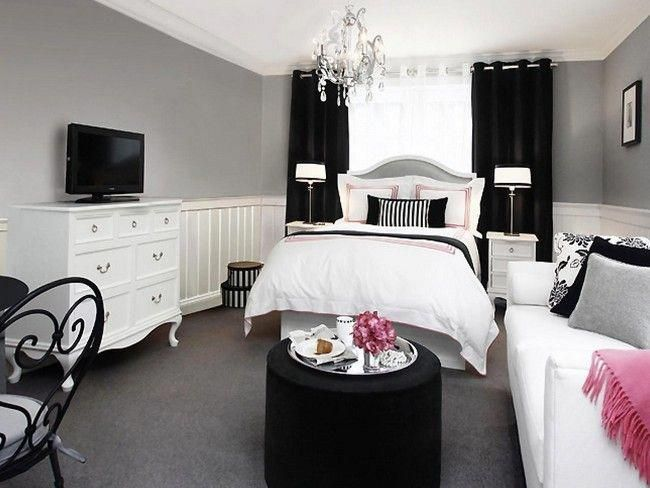 How To Transform Your Bedroom Into Black and White Color ...