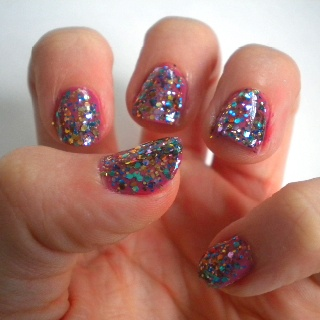 Models Own Ibiza Mix over MUA U R FAB polish. Check it out at www.colouratyourfingertips.blogspot.co.uk