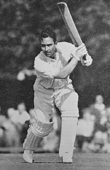 40: Denis Compton - England. Average 50.06. 131 innings.