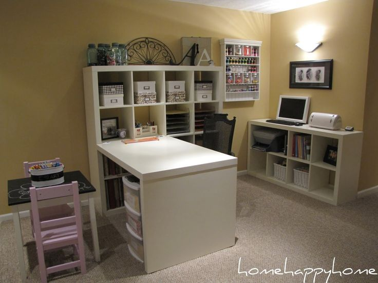 Expedit From Ikea 4x4 Shelf Unit With Attached Desk Amp 2x2