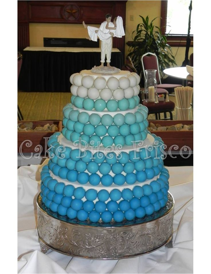 Turquoise Beach Wedding Cake Made Of Balls Perfect For A Themed