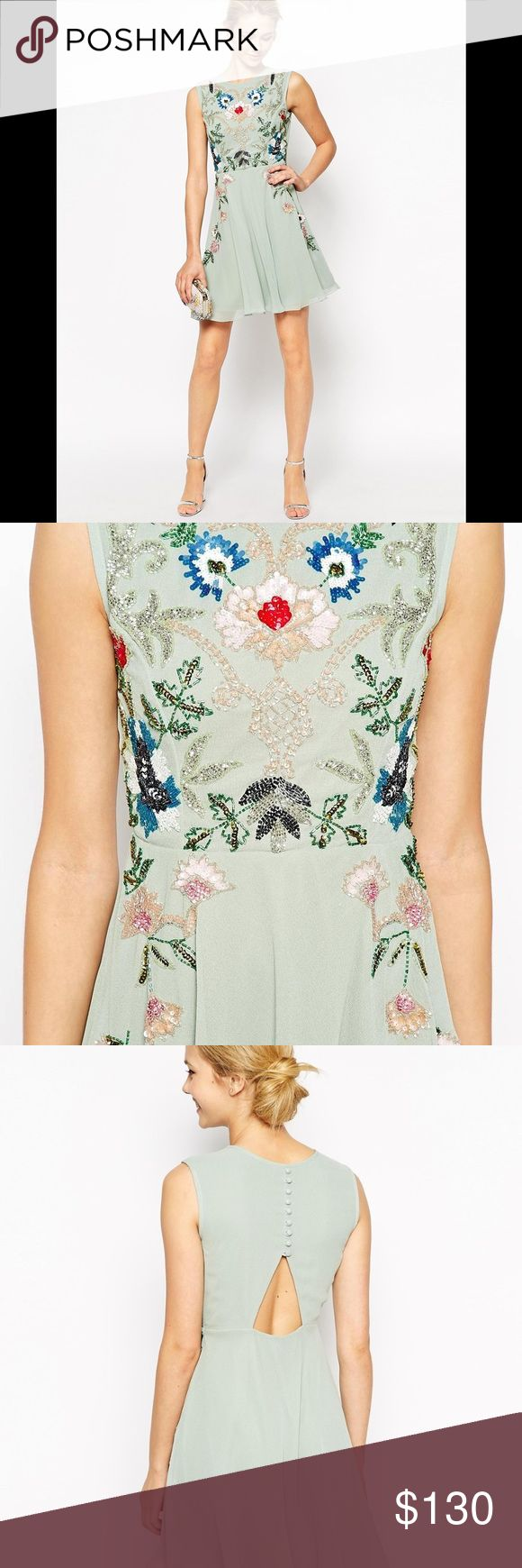 Frock and Frill Sleeveless Floral Embellished Frock and Frill Sleeveless Floral Embellished Skater Dress Size: 16.             Condition: New Without Tags. Store display. Needle & Thread Dresses Midi