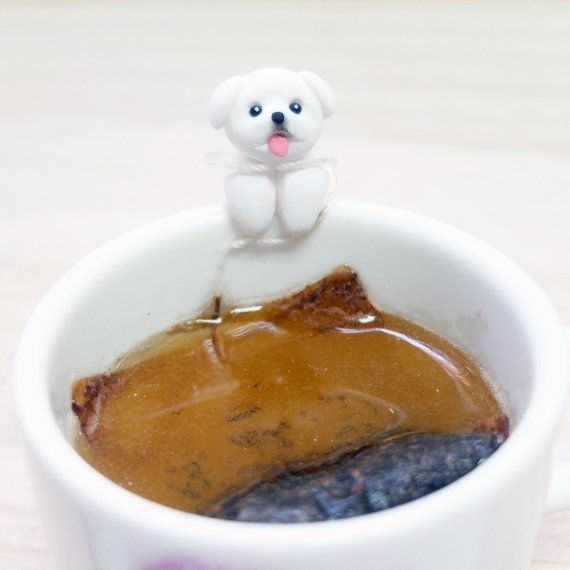 Pekingese Tea Bag Holder – Cutest Dog Lovers Gifts – Sipping Tea Cup Decor – Mug…