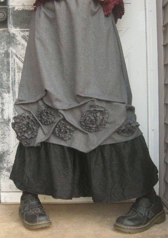 Short Swirly Scrunch Skirt by sarahclemensclothing on Etsy....