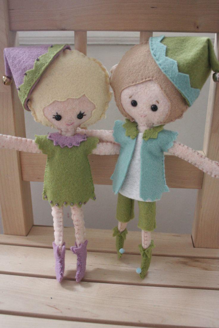 Knitting Pattern For Kindness Elves : Kindness Pixie Elf. Custom Elf Pixie Doll. Bendable Elf ...