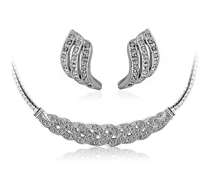$12 for a Princess Cut Royalty Necklace & Earring Set