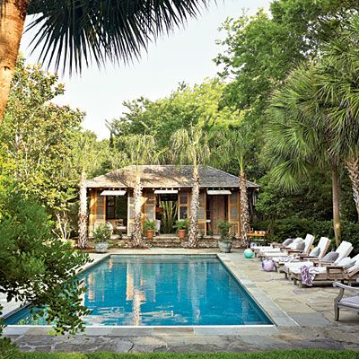 b7633f83c8060b1b0a82c90bec01fb46 tropical backyard backyard pools 96 best images about conservatories, cabanas, pergolas, pool,Southern Living Pool House Plans