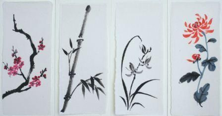 Painting the Four Gentlemen - An Introduction to Chinese Brush Painting | Features | Painters Online