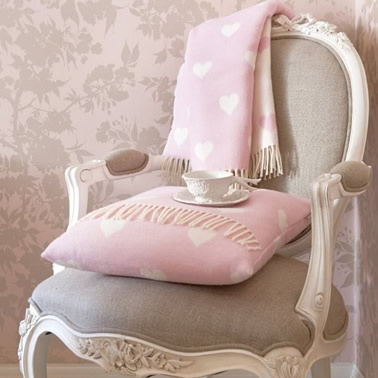 Pink blanket & cushion
