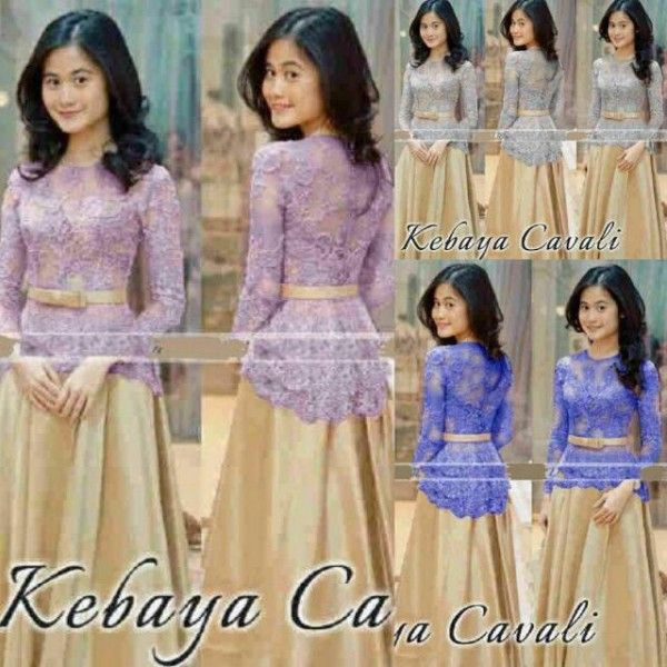 Baju Kebaya Muslim Desain Modern Model Terbaru & Murah Wrarna Biru, Abu-abu
