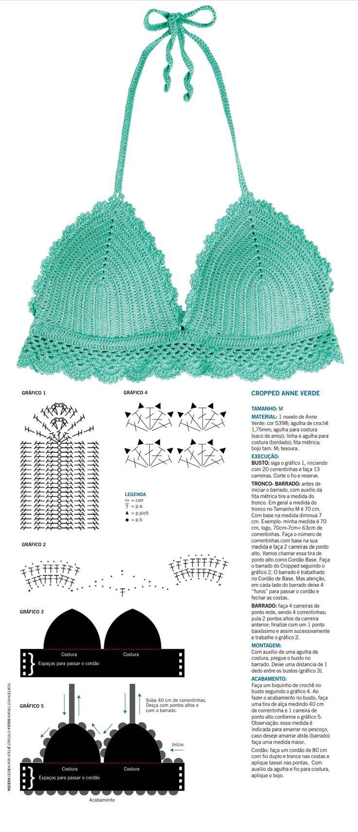 3394 best bikini crochet images on Pinterest | Chrochet, Crochet ...