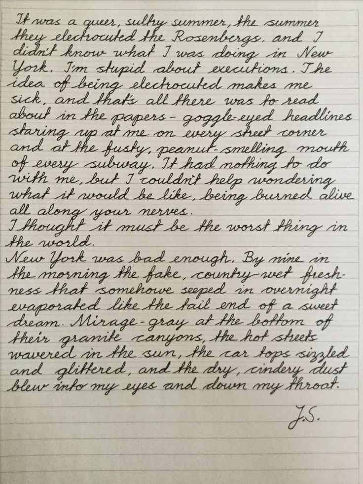 Practicing #cursive #handwriting with the first paragraphs ...