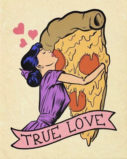 Bild über We Heart It http://ift.tt/1MUPmlQ #pizza #popart #truelove