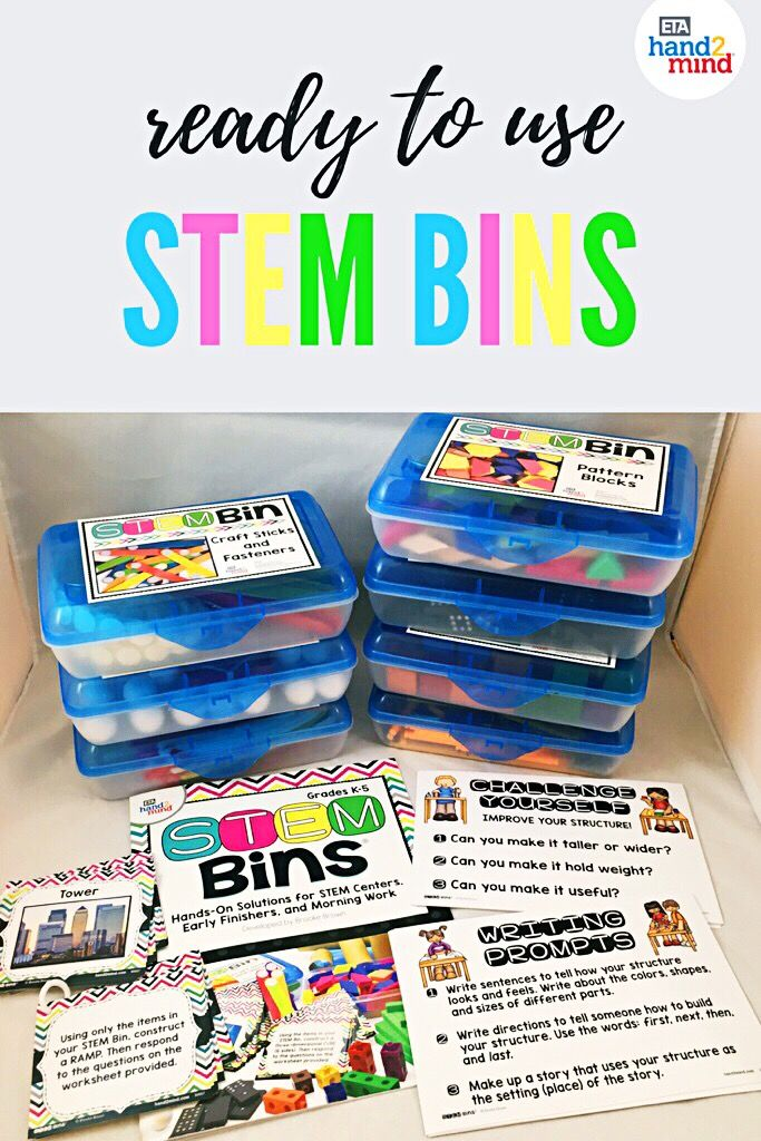 These STEM bins make STEM in the classroom fun, easy, and hands on! Perfect for kids in kindergarten, first grade, 2nd grade, 3rd grade, and upper elementary, kids will love to experiment with the included materials and supplies to complete task cards, challenges, morning work, science experiments,  and more - the ideas of how to use these bins are endless! Organization is easy with the included storage containers and labels, leaving more time for engaging activities and learning!