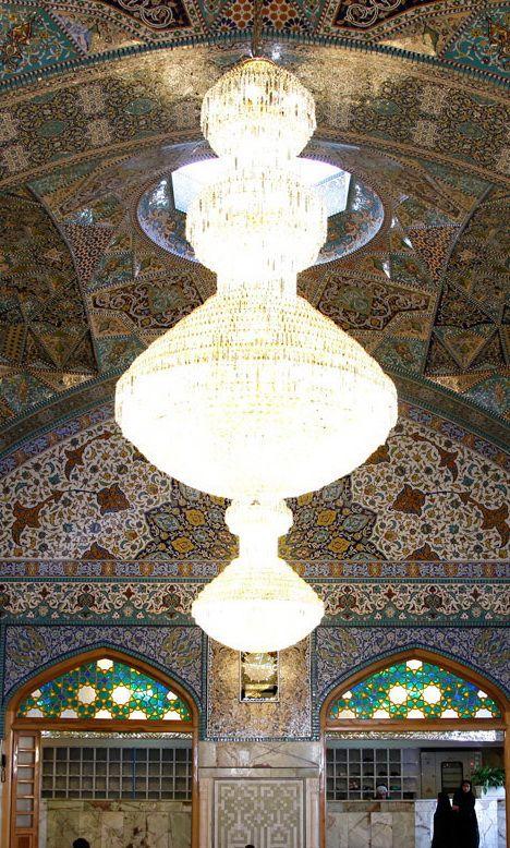 Dar-al-Hekmah Porch ,Imam Reza shrine, Mashhad, Iran (Islamic Art)