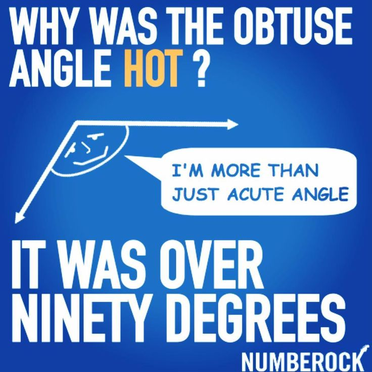 Math Joke about Angles for Elementary School Kids