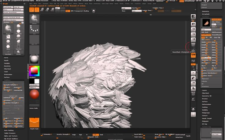 how to make hair brushes in zbrush