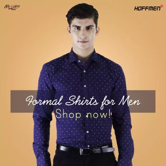 Do you like formal shirts? If yes, check out the collection of formal shirts. Click here: http://bit.ly/293dXHs