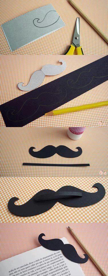 Marca página de bigode