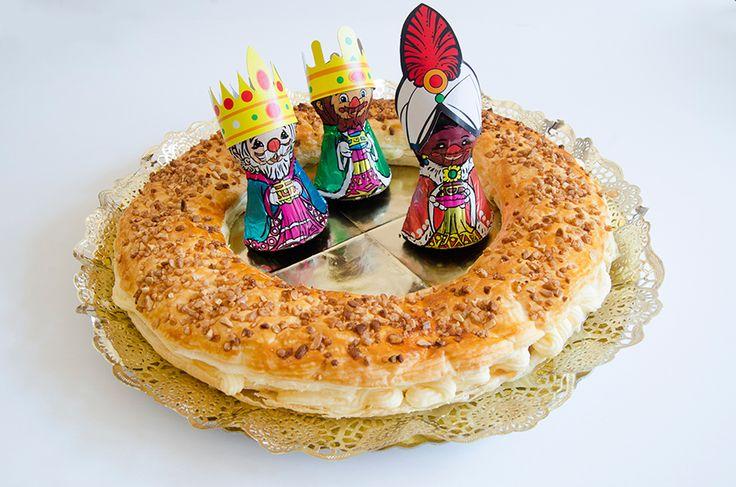 Roscón de Reyes con mouse de queso semicurado Las Terceras y crema de membrillo - Las Terceras Cheese King Cake #manchego #quince #Navidad #Christmas