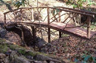 how to build a footbridge across a creek