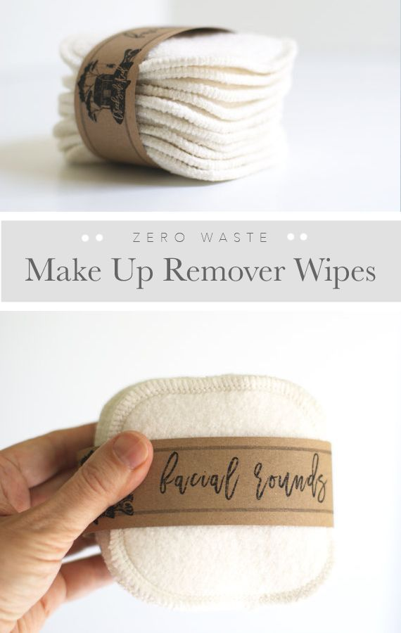 Makeup remover wipes - reusable, washable, organic and soft. Actually better for your skin than the disposable wipes! Use to remove makeup or apply toners and creams.  | Zero Waste Living