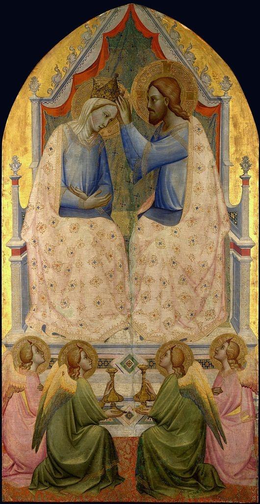 Agnolo Gaddi ~ The Coronation of the Virgin, c.1380 (tempera on panel)