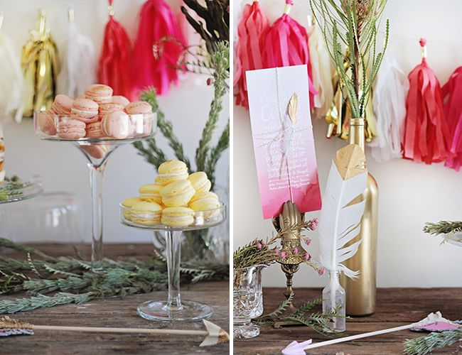 Pink Ombre Baby Shower - #InspiredByThis. Macarons by Just A Pinch, Incites by @orangepapershop