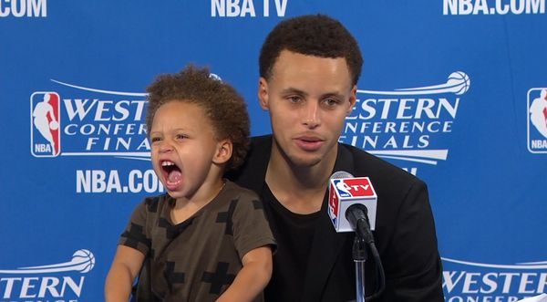 Riley Curry has a new sister.  (Getty)