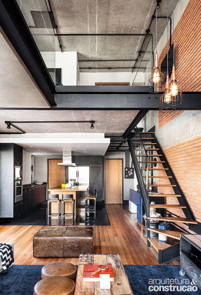 Loft highlights the beauty of brick and apparent concrete