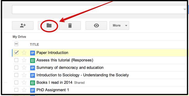 Handy Google Drive Tip for Teachers- Moving Docs to Multiple Folders