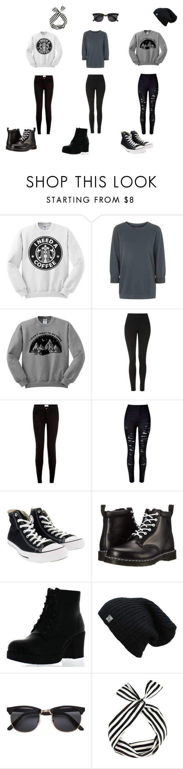 """""""#31"""" by aliviaw on Polyvore featuring Topshop, New Look, WithChic, Converse, Dr. Martens and Refresh"""