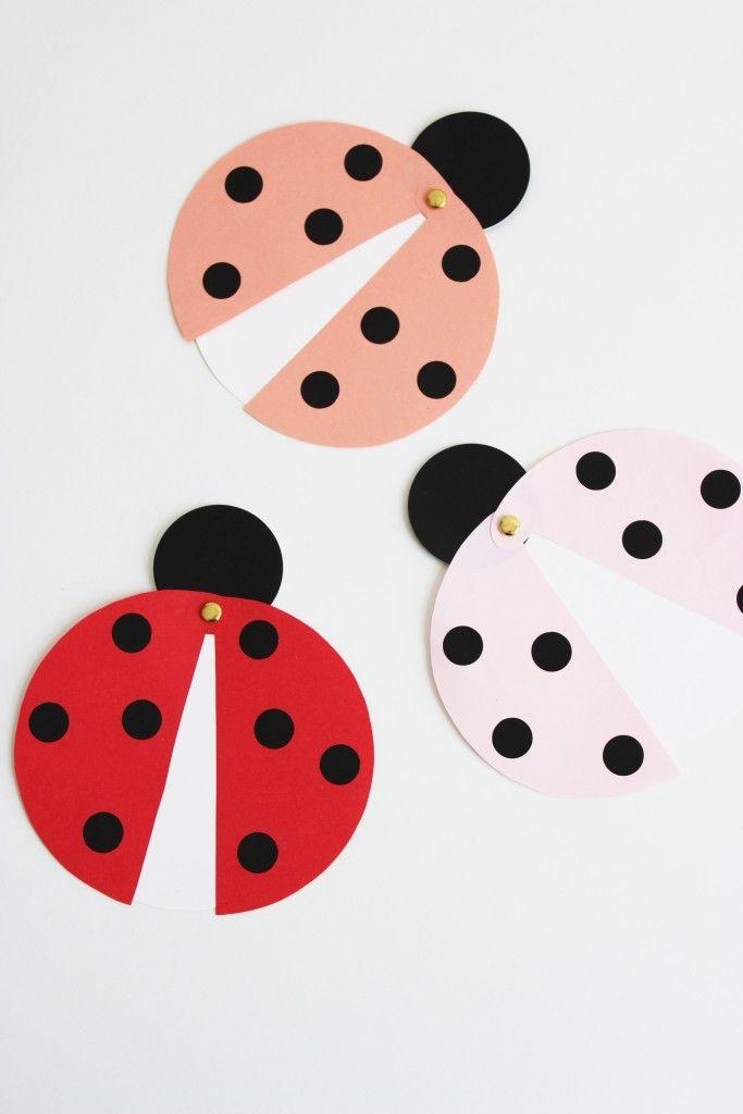 Ladybug party invitations (Tutorial)