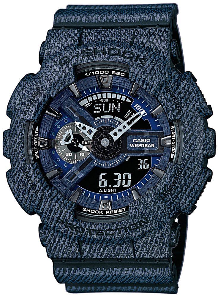 Zegarek męski Casio G-Shock Denim Series GA-110DC-1A - sklep internetowy www.zegarek.net