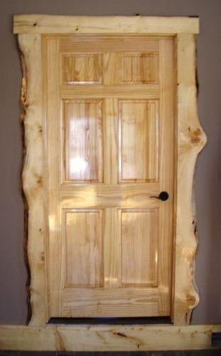 Knotty Pine Live Edge Door Trim & Door ~ James, Webster City, IA