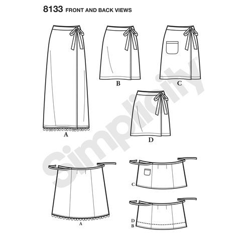 Image result for simplicity patterns wrap around skirts