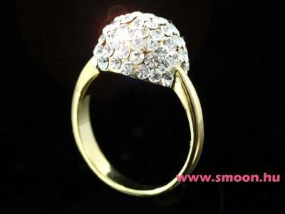 Swarovski arany bogyó gyűrű