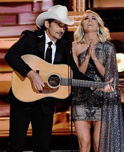 Brad Paisley and Carrie Underwood ✾