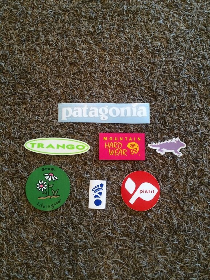 7B Stickers!! Patagonia, Mountain Hardwear, Life Is Good, Chaco.
