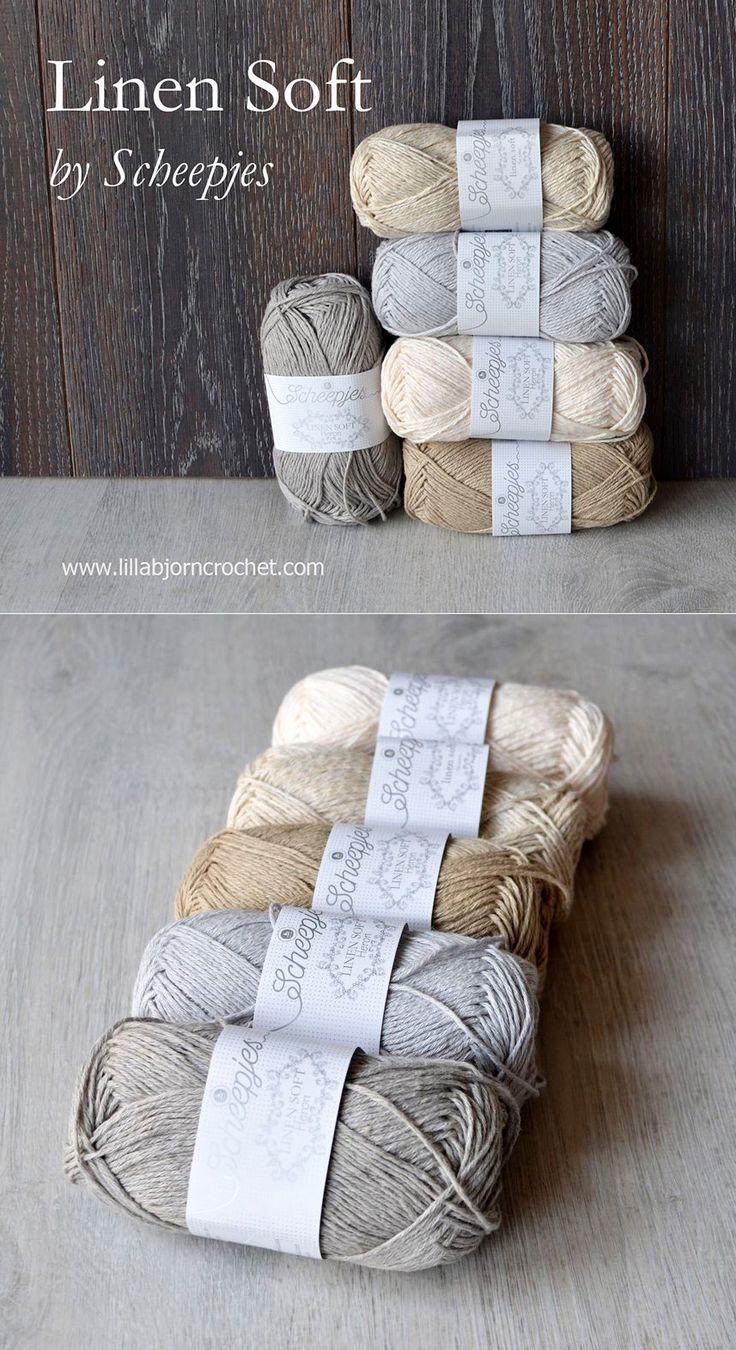 Linen Soft by Scheepjes - a true linen yarn from the Netherlands. Review by Lilla Bjorn Crochet. http://www.lillabjorncrochet.com/2015/11/true-linen-yarn-from-netherlands.html