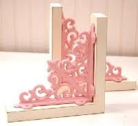 pink book ends for little girls room
