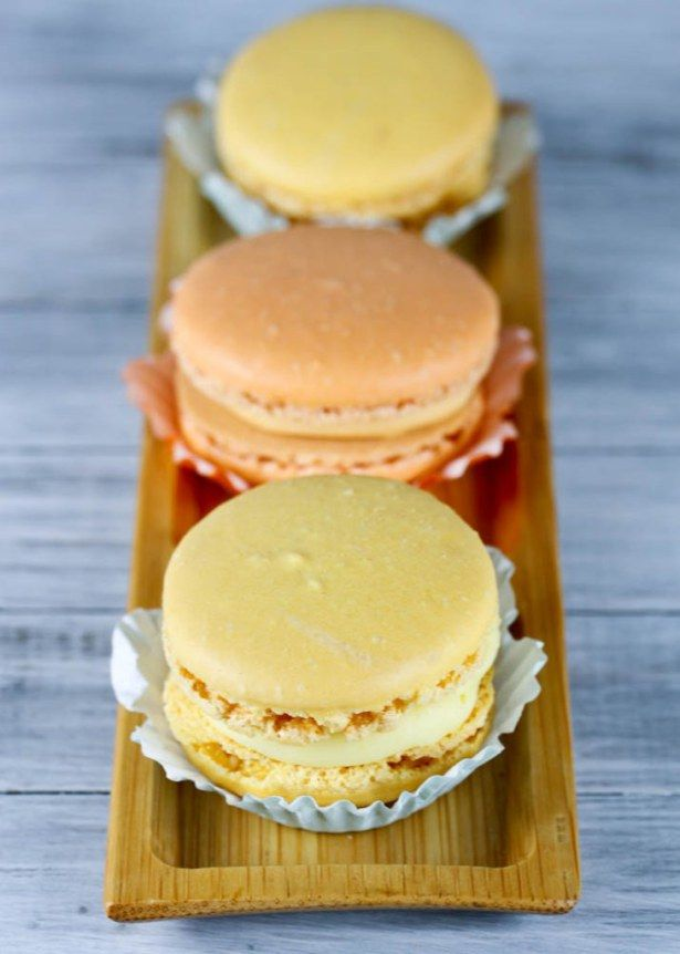 Blood Orange and Meyer Lemon Macarons - Just made the lemon ones and ...