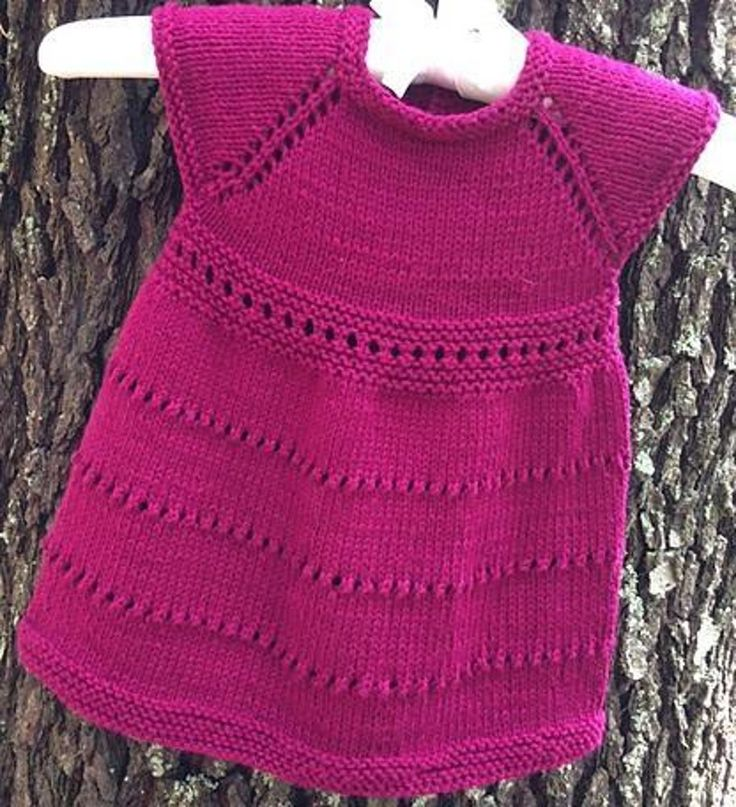 Free Knitting Pattern Little Girl Dress : 421 best images about knit dresses for little girls on ...