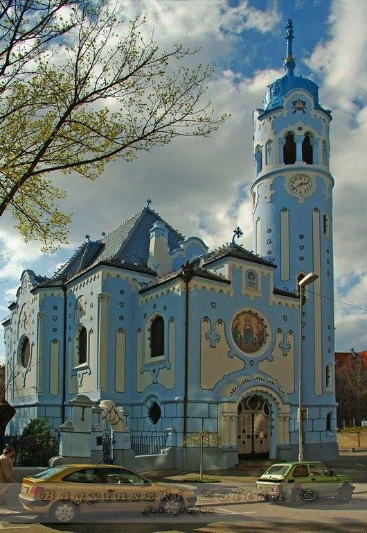 Magyar szecesszió épületei - Lechner Ödön - Szent Erzsébet-templom és plébánia (Kék templom) - Pozsony - Felvidék