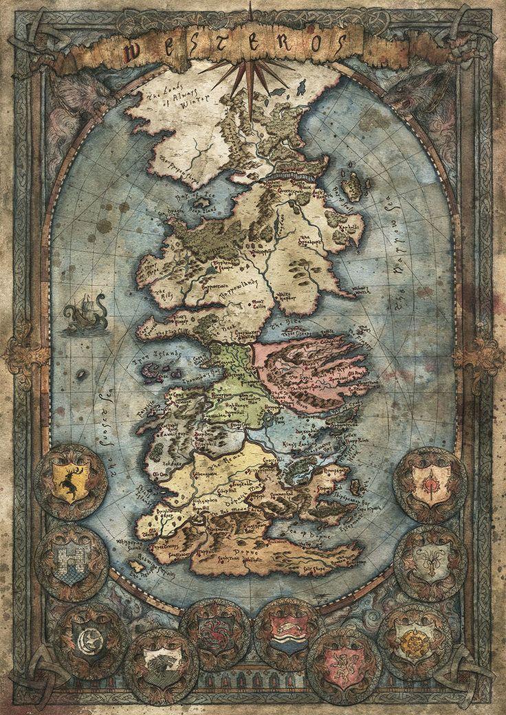 Westeros Map - Game of Thrones by FrancescaBaerald.deviantart.com on @DeviantArt