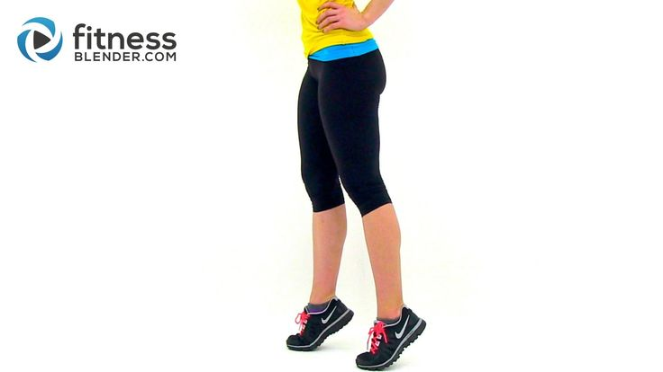 6 min (3) http://www.fitnessblender.com/v/workout-detail/Quick-Cardio-Calf-Workout-at-Home-Lower-Body-and-Calf-Exercises/e6/