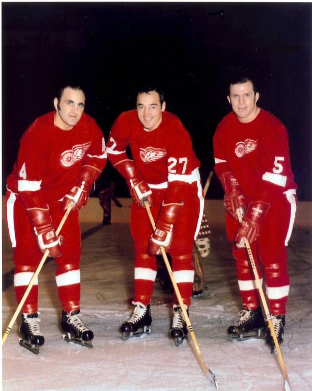 Bobby Baun, Frank Mahovlich & Carl Brewer with the Red Wings (1968-69)