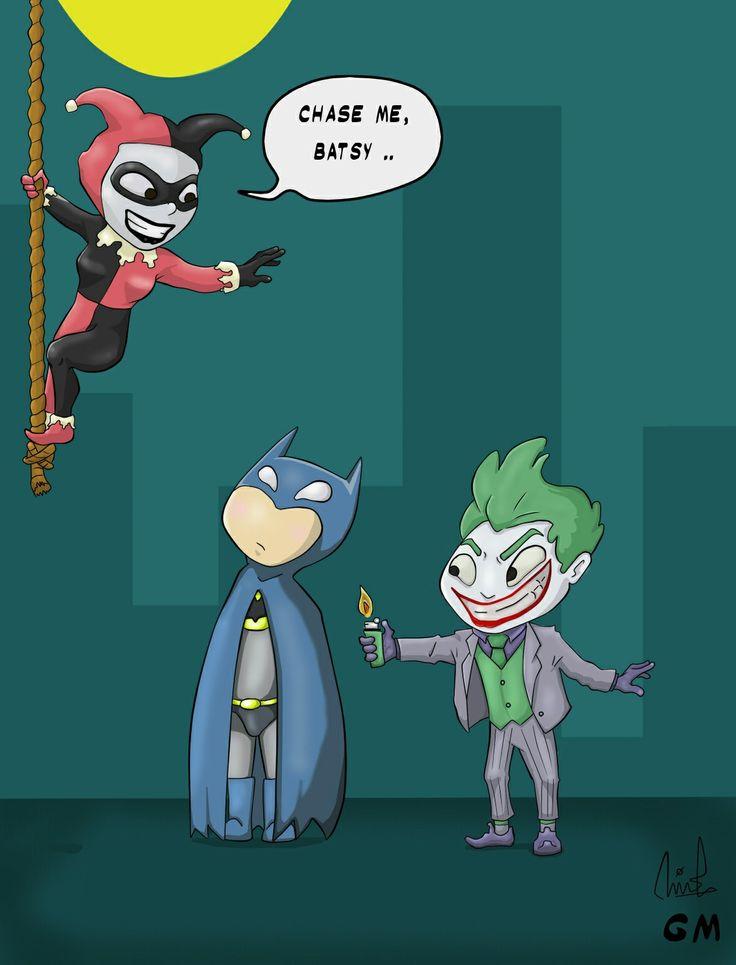 Batman, Joker and Harley Quinn by gianmulya